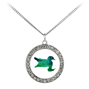 Duck Necklace Stone Coin