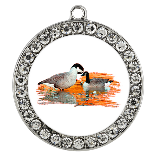 Goose Necklace Stone Coin