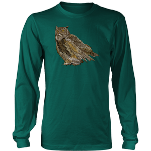 Great Horned Owl Long Sleeve Shirt
