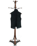 BRIE - Buttoned  Vest  (Toscana Lamb Black Suede Fur Black Snow Tip Interior)