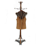 CHELSEA- S44542F. Zipped Closure Vest in Baby Lamb Suede Napa Genuine Ironed Wool Interior  With Fox Fur Hood and Collar Trims