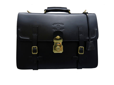 CHURCHILL. The Briefcase (YOKOYA JAPAN Solid Brass Lock and Buckles)