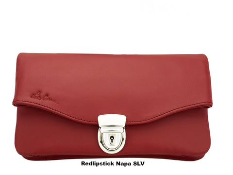 CATHY  (With a Tuck Lock) A minimalist every days Cross body or Clutch bag (purse, coins,phone, notes, credit cards...)