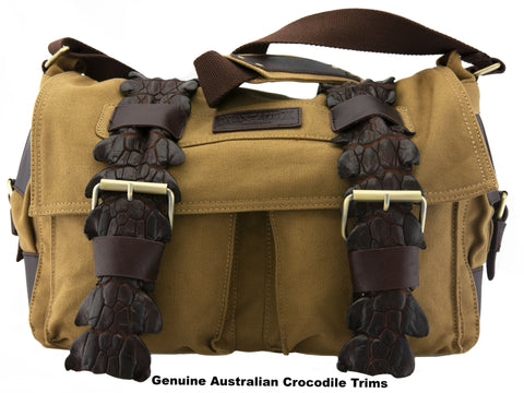 DUNDEE- (Genuine Australian Back Strap Crocodile Trims)