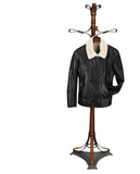 JENNY. S44545- Lightly Fitted Flyer Brown Napa Jacket. Ironed Natural Wool Trims and Interior