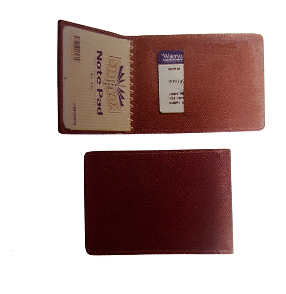 No 560 (Small Leather Top Spiral Entrance Note Book Cover designed for front shirt pocket)