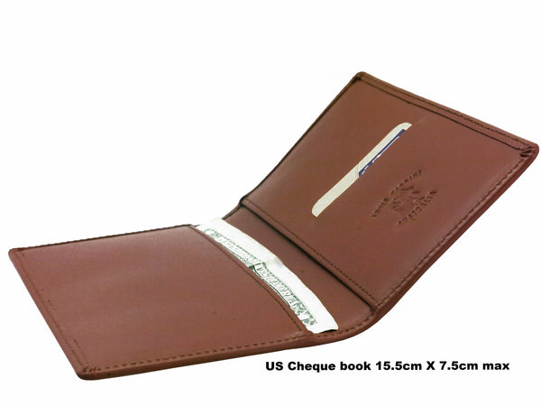 No 571- USA Cheque Book Cover (fully self leather lined)