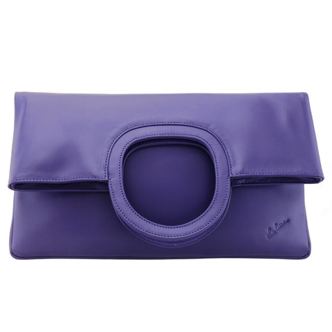 RENDEZVOUS ( Clutch bag with flap and handles closure details )