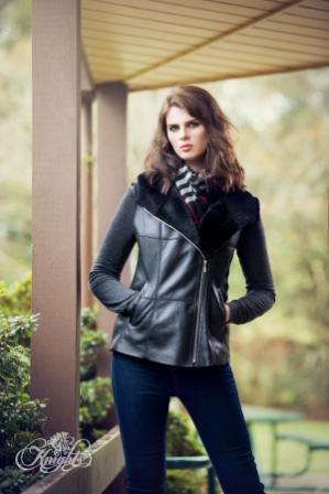 ABBIE. Jacket Black Napa (Super Lightweight)