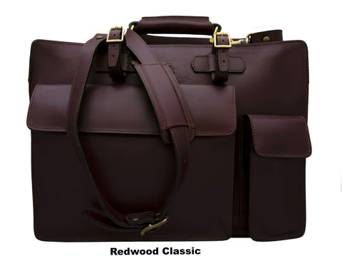 STUDIO B ( 2 Large Compartments Soft Briefcase, Messenger Satchel )