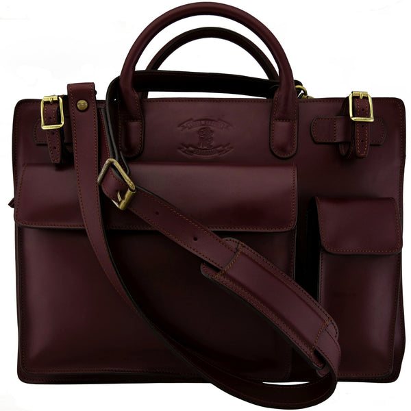 STAGE ONE- Briefcase ( 1 Large Compartments Soft Briefcase, Messenger Satchel )