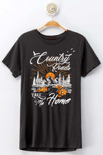 Ivory Country Roads Graphic Tee - Lilac&Lemon