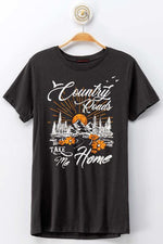 Charcoal Country Roads Graphic Tee