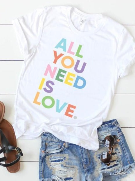 All You Need Is Love Graphic Tee - Lilac&Lemon