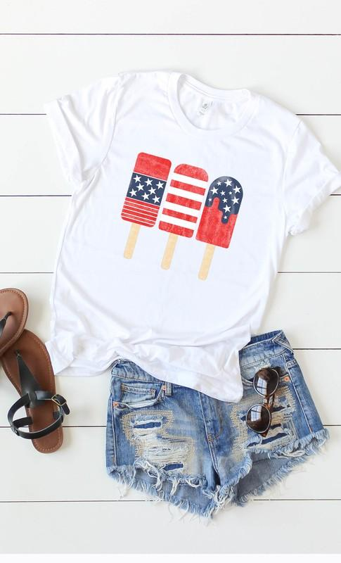 Patriotic Popsicles Graphic Tee