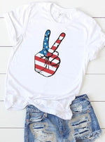 *Plus* American Peace Sign Graphic Tee