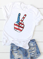 American Peace Sign Graphic Tee