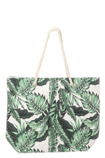 Palm Print Beach Tote