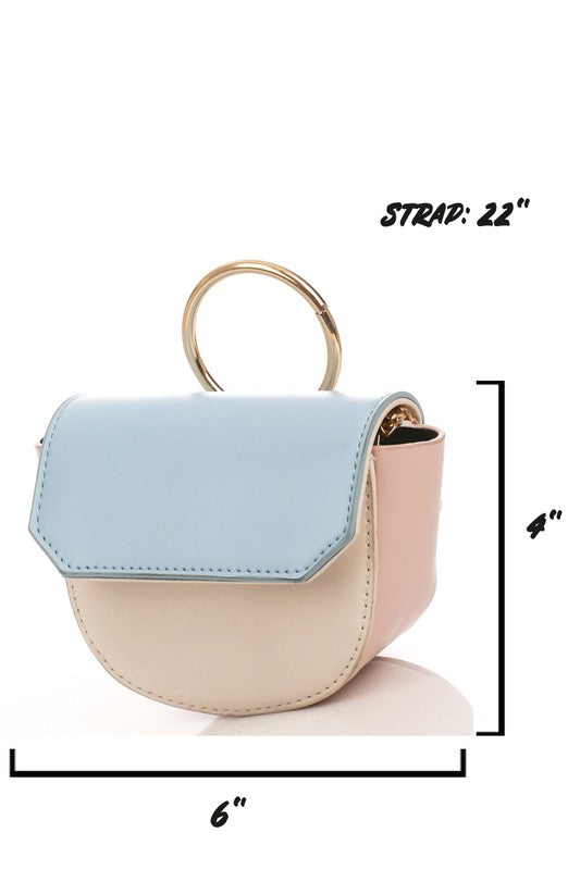 Pastel Mini Purse - Lilac&Lemon