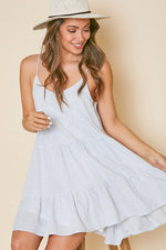Striped Sun Dress - Lilac&Lemon