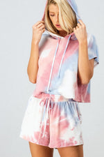Pink and Blue Tie Dye Short Set - Lilac&Lemon