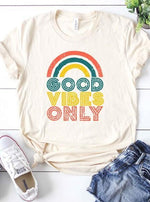*Plus* Rainbow Good Vibes Graphic Tee - Lilac&Lemon