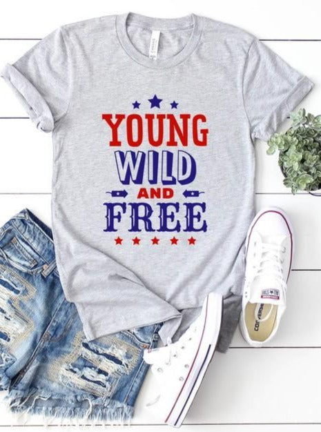 Young, Wild, Free Graphic Tee - Lilac&Lemon