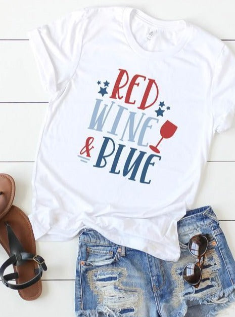 *Plus* Red Wine and Blue Graphic Tee