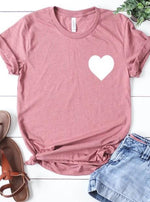 *Plus* Mauve Heart Graphic Tee