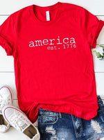 Red America Graphic Tee