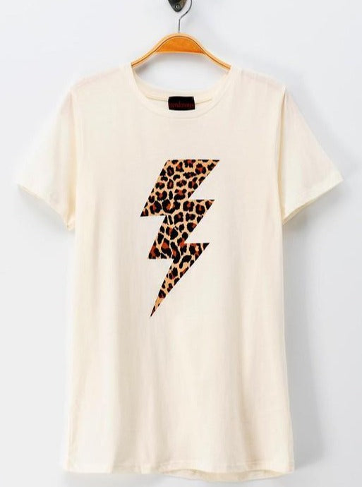 Leopard Thunderbolt Graphic Tee