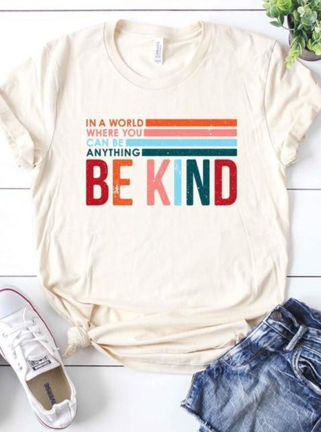 *Plus* Be Kind Graphic Tee - Lilac&Lemon