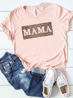 *Plus* Leopard Print Mama Graphic Tee