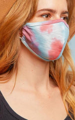Pink and Blue Tie Dye Face Mask