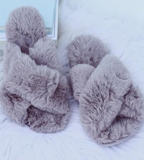 Grey Fuzzy Slides