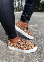 Leopard Print Slip On Sneakers