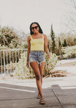Lucy Crop Top Yellow