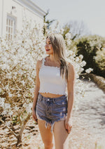 Lucy Crop Top White