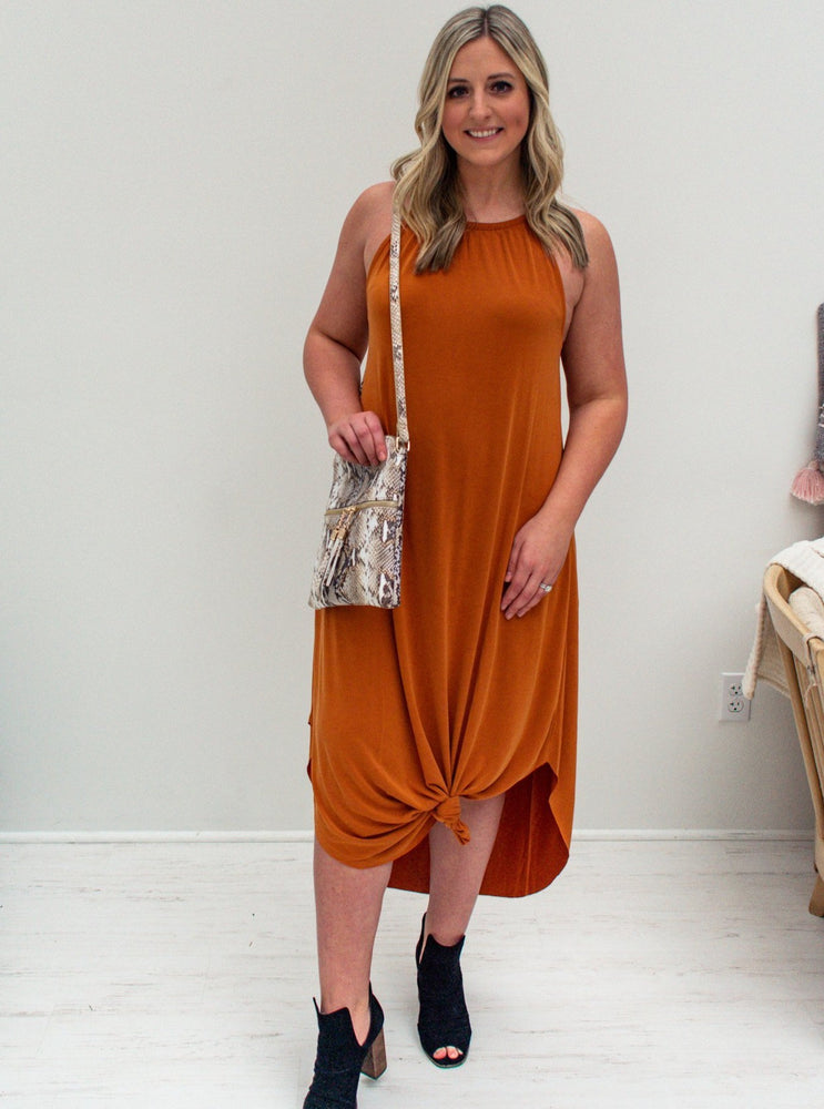 Pumpkin Tank Maxi Dress