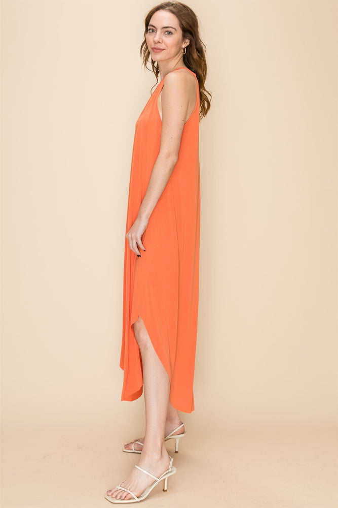 Orange Coral Everyday Maxi Dress - Lilac&Lemon