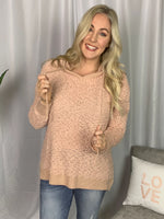 Peach Popcorn Knit Sweater