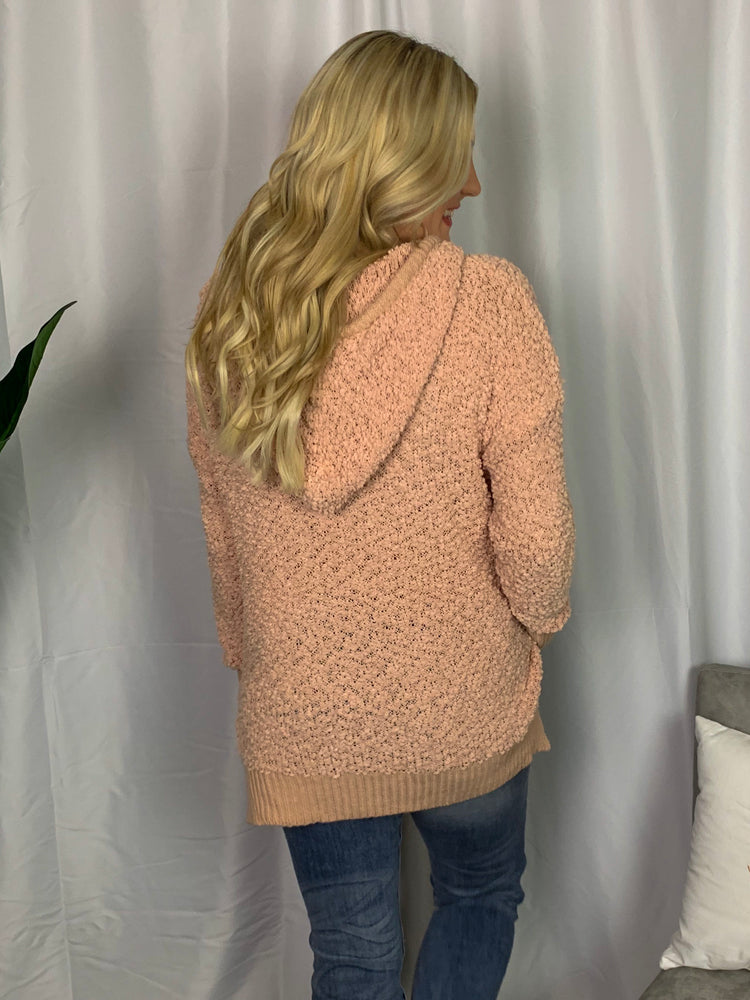 Peach Popcorn Knit Sweater - Lilac&Lemon