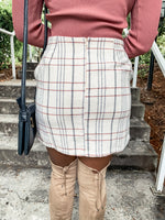 Ivory Plaid Skirt - Lilac&Lemon