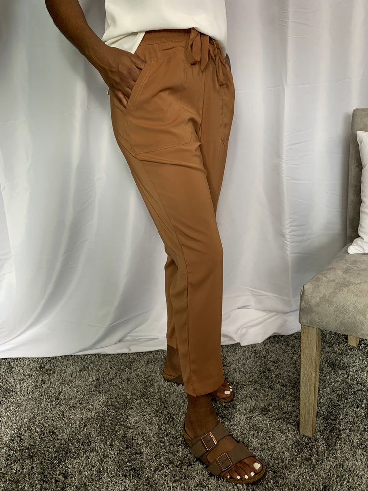 Camel Cropped Trousers