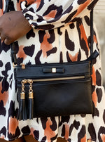 Black Cross Body Bow Detail Bag