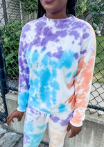 Blue and Purple Tie Dye Pullover