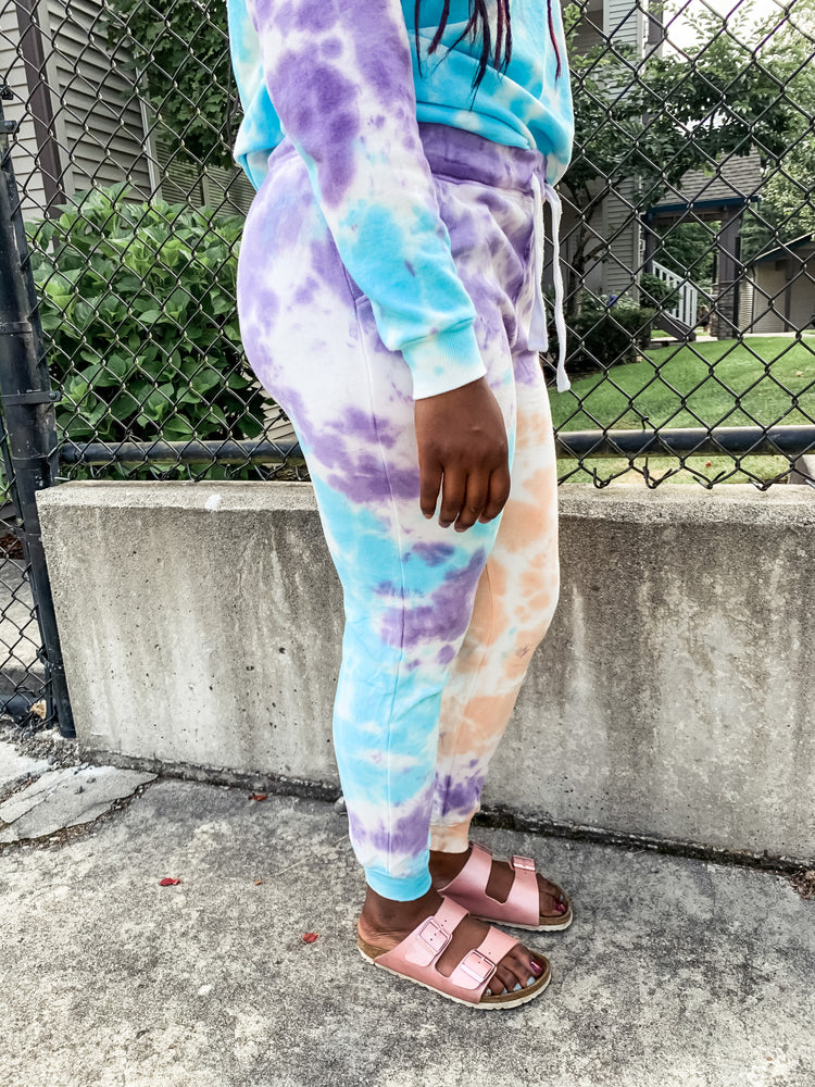 Blue and Purple Tie Dye Joggers - Lilac&Lemon