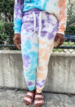 Blue and Purple Tie Dye Joggers