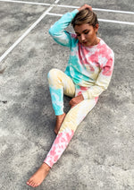 Coral and Mint Tie Dye Joggers