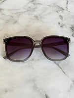 Grey Wayfarer Sunglasses - Lilac&Lemon